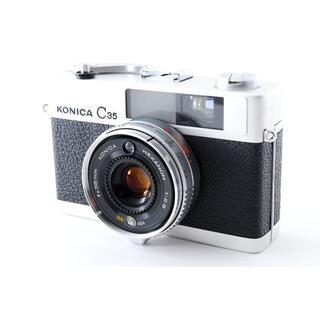 コニカミノルタ(KONICA MINOLTA)のかわいすぎるデザイン♪☆モルト新品張り替え済み‼☆ KONICA C35 E&L(フィルムカメラ)