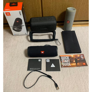 充電を行い、使用は未使用 JBL Bluetoothスピーカー FLIP5 黒(スピーカー)