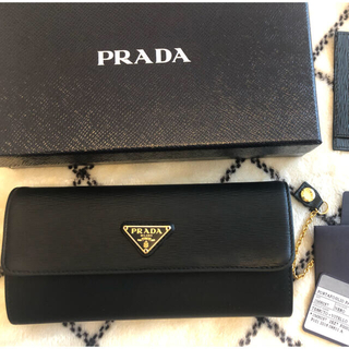 PRADA - PRADA プラダ 長財布 パスケース付き