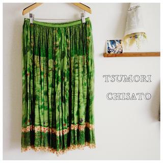 ツモリチサト(TSUMORI CHISATO)の🌳🐻🍄名作 くまの森🍄🐻🌳(ひざ丈スカート)