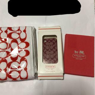 コーチ(COACH)のCOACH ミラー ハンドタオル iPhone4.5ケス 未使用品(タオル/バス用品)