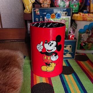 ミッキーマウス(ミッキーマウス)の昭和レトロ ミッキーゴミ箱(キャラクターグッズ)