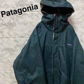 パタゴニア(patagonia)のパタゴニア マウンテンパーカー ナイロンジャケット ビッグサイズ グリーン XL(マウンテンパーカー)