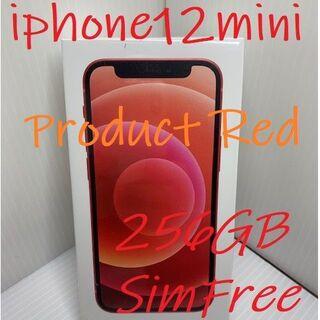 アイフォーン(iPhone)の☆送料無料☆iPhone 12 mini 256GB RED SIMロック解除済(スマートフォン本体)