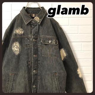 グラム(glamb)のグラム クラッシュ デニムジャケット  Gジャン ブラックデニム(Gジャン/デニムジャケット)