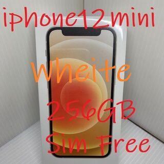 アイフォーン(iPhone)の☆送料無料☆iPhone 12 mini 256GB ホワイトSIMロック解除済(スマートフォン本体)