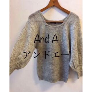 アンドエー(And A)のAnd A アンドエー*ニット セーター 変形 デザイン モヘア混 パフ袖 (ニット/セーター)
