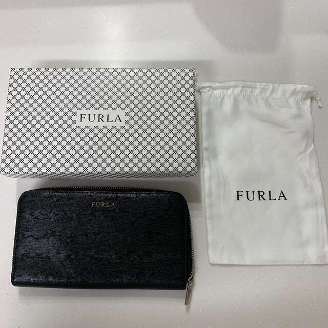 Furla(フルラ)のFURLA 長財布 (黒) 箱、袋付き【最終値下げ】 レディースのファッション小物(財布)の商品写真