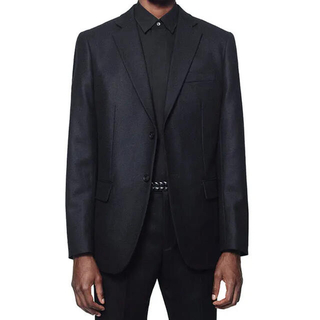 ジルサンダー(Jil Sander)のユニクロ +J ウールテーラードジャケット パンツ ネイビー S 73(テーラードジャケット)