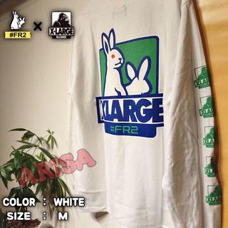 【大人気コラボ】FR2×XLARGE ロンT ホワイト Mサイズ