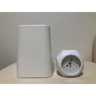 ニトリ(ニトリ)のニトリ◾️置時計と袋が見えにくいミニダストボックス 2点まとめ売り used美品(置時計)
