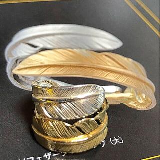 ゴローズ(goro's)のゴローズ 全金×SV ダブルフェザー リング 15号(リング(指輪))