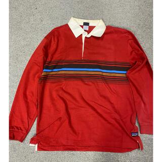 patagonia - パタゴニアラグビーシャツPatagonia USEDサイズL