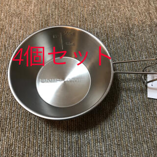 ユニフレーム(UNIFLAME)の新品未使用ユニフレーム チタン シェラカップ300 4個セット(食器)