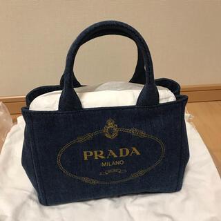 プラダ(PRADA)の新品 PRADA プラダ カナパ(デニム)BLEU(トートバッグ)