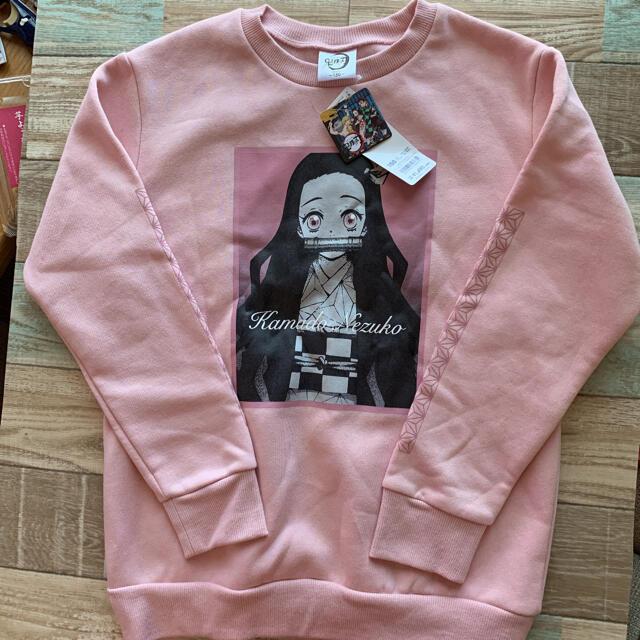 GU(ジーユー)の鬼滅の刃 GU ねずこトレーナー キッズ/ベビー/マタニティのキッズ服女の子用(90cm~)(Tシャツ/カットソー)の商品写真