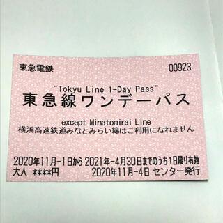 東急線ワンデーパス 有効期限:2021年4月30日(鉄道乗車券)