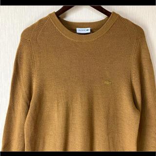 LACOSTE - 希少カラー LACOSTE ラコステ ニット セーター 黄土色 ブラウン系 M