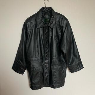 BEAMS - 【古着 】ラグラン レザー ジャケット ブルゾン コート M