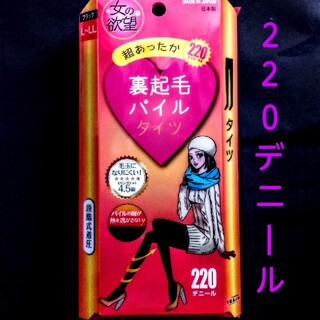 裏起毛パイルタイツ220デニールL~LLsize(タイツ/ストッキング)