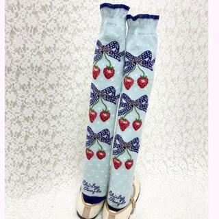 シャーリーテンプル  靴下 いちごガーデン 苺 新品 13-15cm