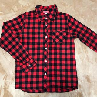 エドウィン(EDWIN)の新品 EDWIN 男の子 チェックシャツ 男児  長袖 160 シャツ 前あき(Tシャツ/カットソー)