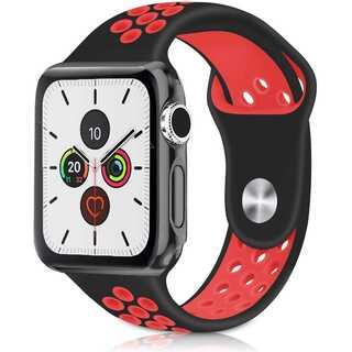 【B29】Apple Watch スポーツバンド38mm/40mm(黒レッド)(iPhoneケース)