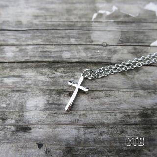 クロスネックレス シルバー メンズ ネックレス(ネックレス)