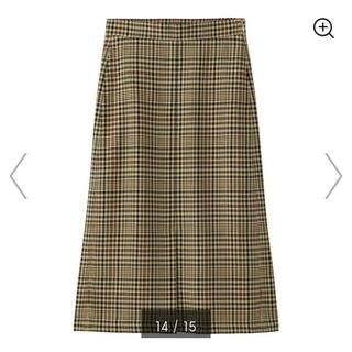 ジーユー(GU)のGU♡チェックナローミディスカート 新品(ロングスカート)
