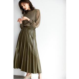 FRAY I.D - ピンタックプリーツレザースカート
