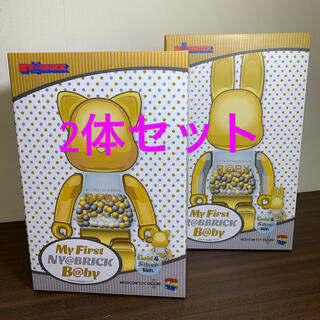 メディコムトイ(MEDICOM TOY)のMY FIRST NY@BRICK B@BY 100% & 400% GOLD (その他)