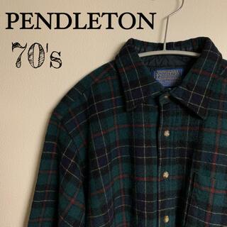 ペンドルトン(PENDLETON)のPENDLETON ペンドルトン 70's ヴィンテージ メンズ シャツ(シャツ)