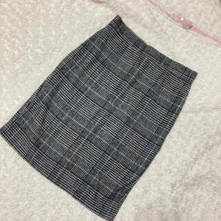 グレンチェックタイトスカート 訳あり(ひざ丈スカート)