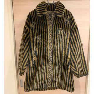 フェンディ(FENDI)のFENDI フェイクファーコート ブラウン ペカン size40(毛皮/ファーコート)