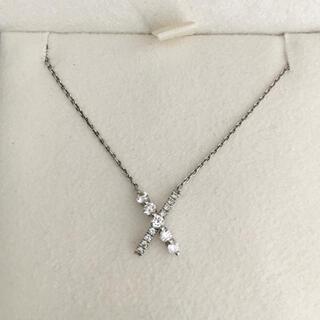 STAR JEWELRY - スタージュエリー ダイヤモンド ネックレス Pt950 0.17ct 2.6g