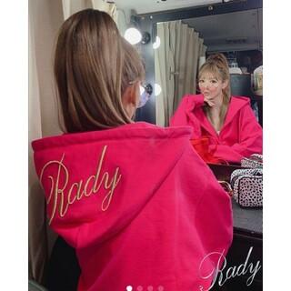 Rady - Rady☆ビッグロゴ☆オーバーサイズフーディー☆セットアップ☆パーカー☆ピンク