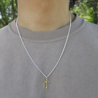 クロスネックレス ゴールド アクセサリー 50cm メンズ ネックレス(ネックレス)
