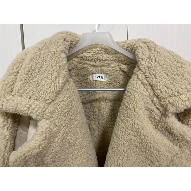 EVRIS(エヴリス)のEVRIS フェイクスウェードルーズジャケット レディースのジャケット/アウター(ムートンコート)の商品写真