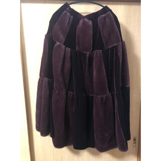ラベルエチュード(la belle Etude)のラベルエチュード ベロア×ファー切り替えスカート(ロングスカート)