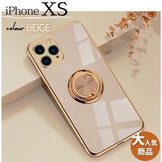 ♪送料無料♪iPhoneケース iPhoneXS スマホケース 綺麗 ベージュ(iPhoneケース)