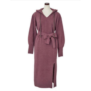 Her lip to   Relax Hooded Knit Dress