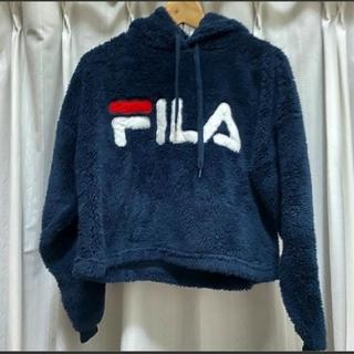 フィラ(FILA)のFILA フリース生地パーカートレーナー(パーカー)