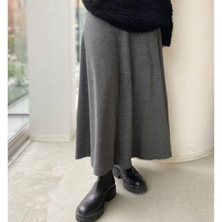L'Appartement DEUXIEME CLASSE - L'Appartement Wool Asymmetry Skirt◆グレーB