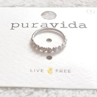 プラヴィダ(Pura Vida)のPura vida リング 指輪 FLORAL STACKING US 7 銀色(リング(指輪))