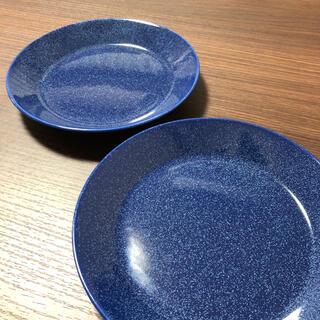 イッタラ(iittala)の美品 イッタラ ティーマ ドッテドブルー 17cm 2枚(食器)