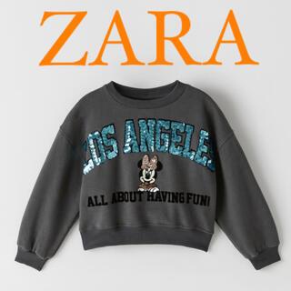 ザラ(ZARA)の新品・未使用 ZARA ディズニー ミニー スパンコールトレーナー(トレーナー/スウェット)