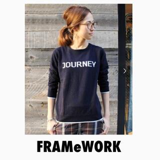 FRAMeWORK - FRAMeWORKフレームワーク ロゴニットプルオーバー