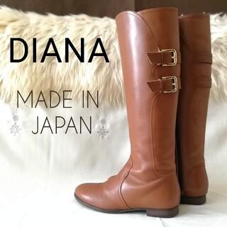 DIANA - 『DIANA/ダイアナ』ローヒール*ロングブーツ/ジョッキーブーツ/23cm