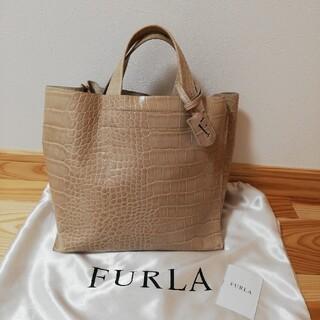 Furla - FURLA クロコ ハンドバッグ