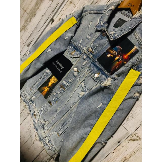 ZARA(ザラ)の危険写美。廃盤ZARA Gジャンテープロゴ FR2 DIESEL OY Agem メンズのジャケット/アウター(Gジャン/デニムジャケット)の商品写真